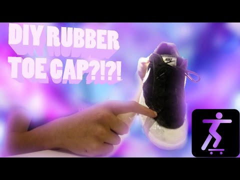 DIY Rubber Toe Cap?!? - Skateboarding Nike Court Plastidip Custom!