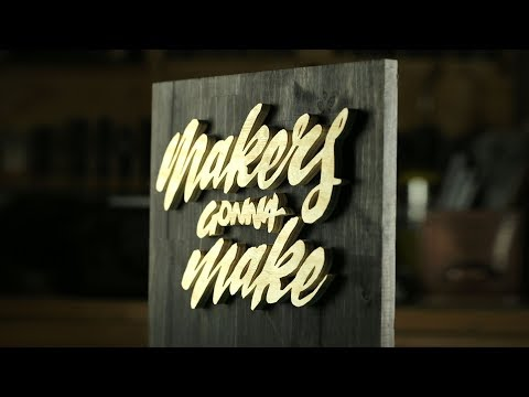 DIY Hand Lettering Wooden Sign - Home Decor and perfect gift Idea. Oddly Satisfying.