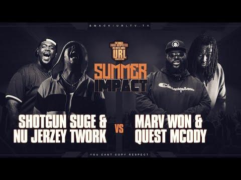 NU JERZEY TWORK X SHOTGUN SUGE VS MARV WON X QUEST MCODY RAP BATTLE   URLTV