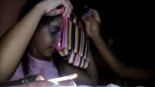 Desafio da maquiagem com os olhos fechados kkkkk
