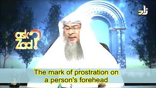 Mark of prostration on a person