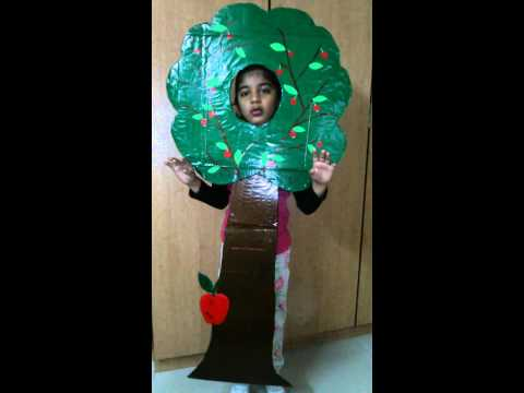 Fancy dress competition as a tree