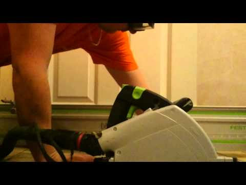 how to cut the door without removing festool ts55