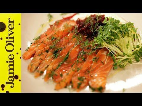 Jamie's Perfect Party Food : Salmon Gravadlax