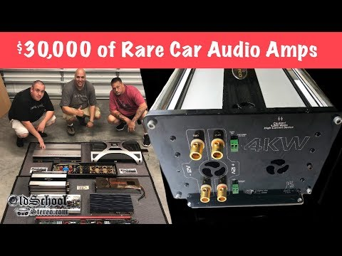 $30,000 and 30,000 watts of Rare Car Audio Amplifiers?