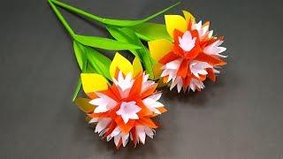 Download Handcraft: Paper Stick Flower Making | DIY Beautiful Handcraft with Paper | Jarine's Crafty Creation Video