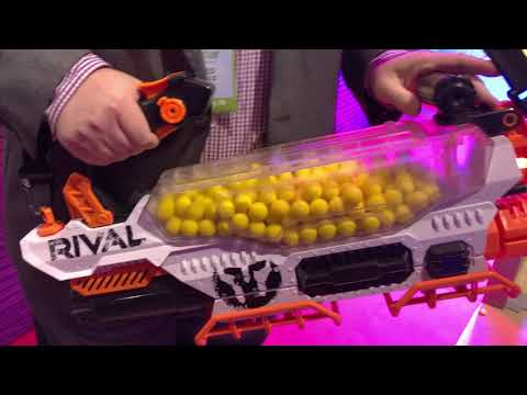 HASBRO TOY FAIR - 2018 Nerf Rival Prometheus MXVIII-20K - Fire Demo and Review