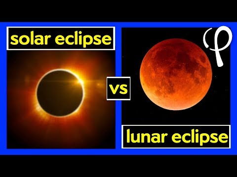 What's the difference between a solar and lunar eclipse?