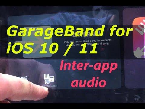Garageband for iOS 10 / 11: INTER-APP audio: other apps recording into GarageBand