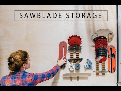 4 Shop Organizing Projects - Blade Storage, Battery Charging System, Storage Racks