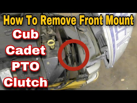 How To Remove The PTO Clutch On A Cub Cadet Riding Mower (Mounted In Front Of Engine) with Taryl