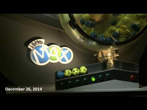 Lotto Max Draw December 26, 2014