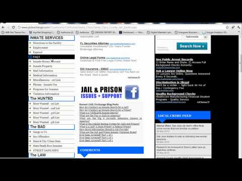 Santa Clara County Jail - Santa Clara Inmates