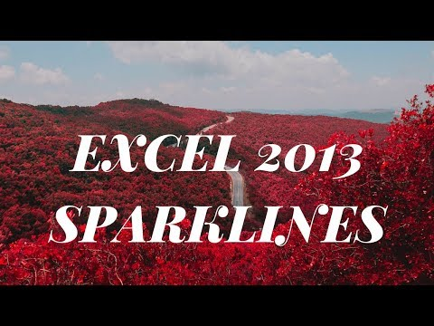 sparklines excel 2013 in hindi | LINE CHART , WIN/LOSS CHART.