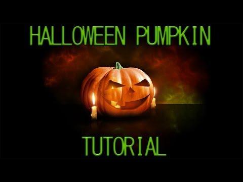 Photoshop CS6 Halloween Pumpkin