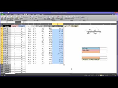 Calculating a Correlation Coefficient in Excel Step-by-Step and with the CORREL Function