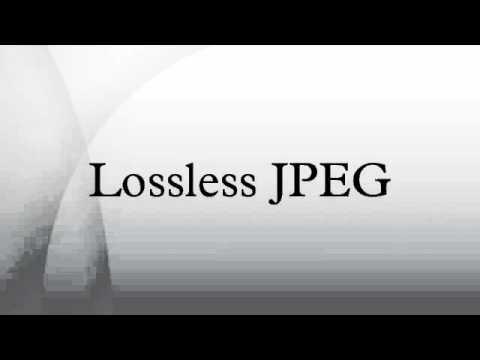 Lossless JPEG