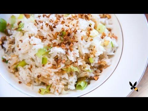 Ginger Garlic Fried Rice Recipe (Jean Georges)