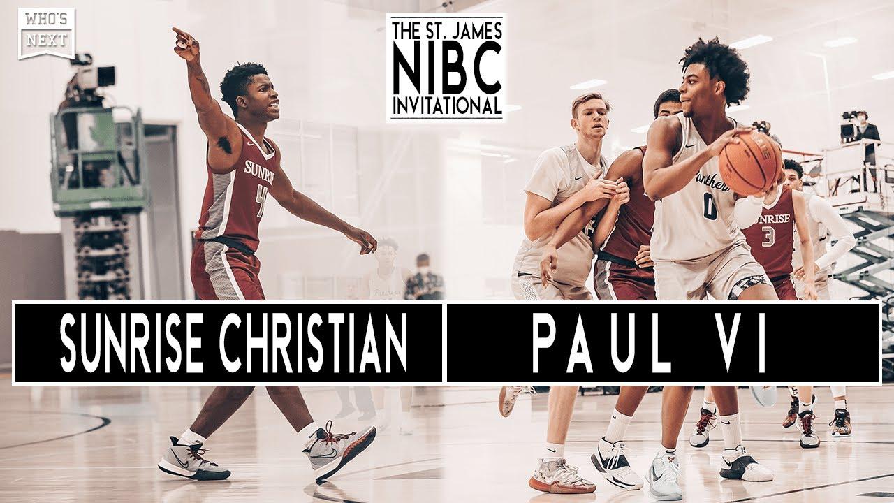 Sunrise Christian (KS) vs Paul VI (VA) - The St James NIBC Invitational - ESPN Broadcast Highlights