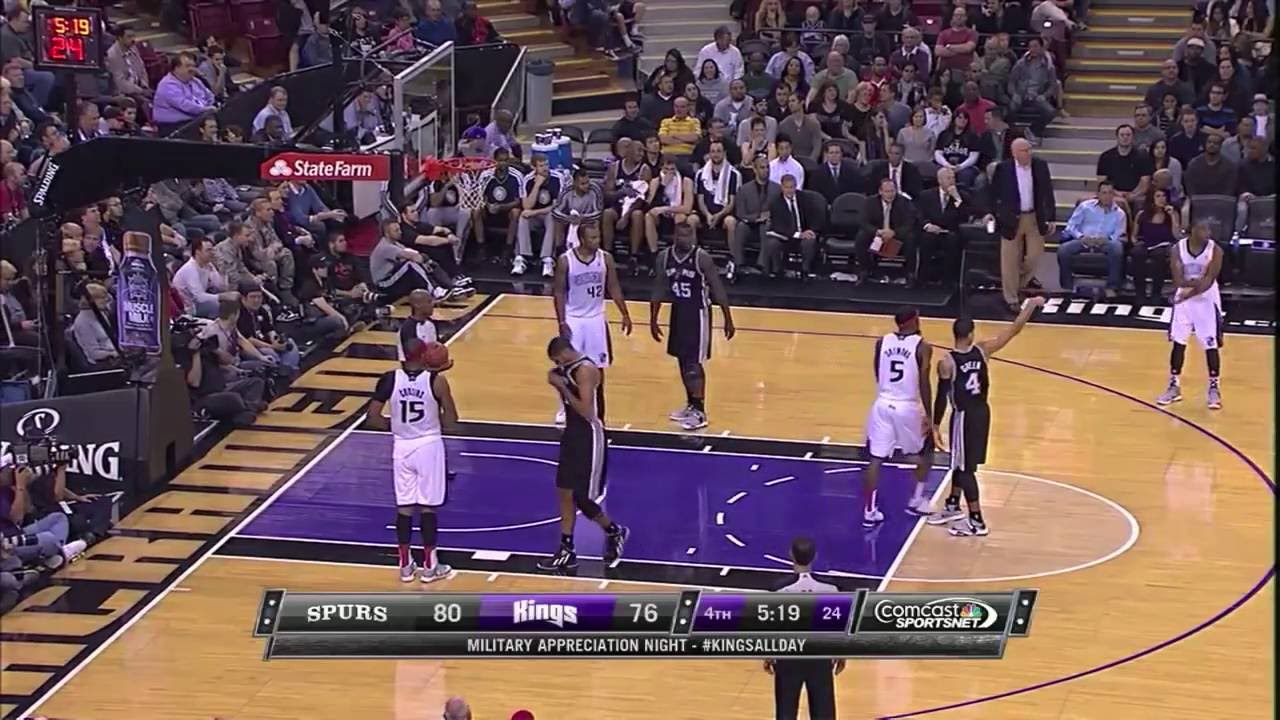 Demarcus Cousins trying to bully Tim Duncan