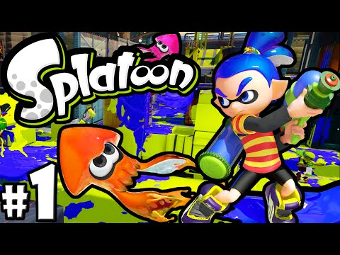 Splatoon Wii U PART 1 Online Gameplay Walkthrough New Shooter Nintendo HD 60fps How to Play Turf War