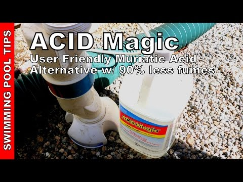 ACID Magic User Friendly Muriatic Acid Alternative with 90% Less Fumes
