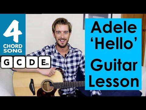 Adele - Hello Guitar Tutorial - Easy Chords!