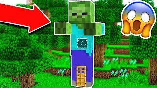 HOW TO LIVE INSIDE A ZOMBIE IN MINECRAFT!