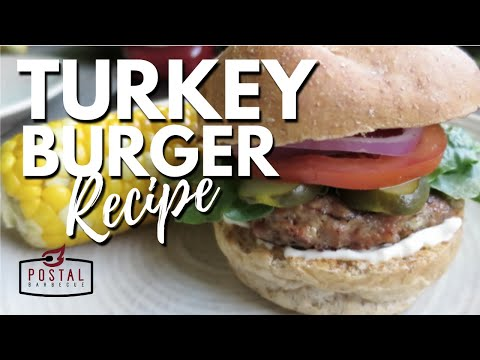 Turkey Burger Recipe - How To Make Turkey Burgers on the BBQ