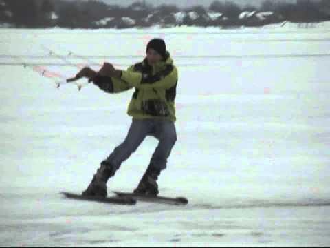 Snowkiting Pansh ACE 6m wind 7-9m/s