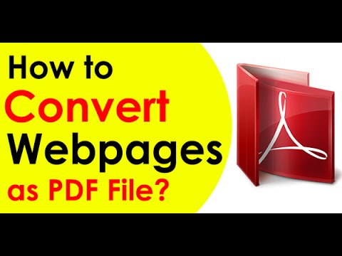 HOW-TO CONVERT HTML WEBPAGE TO PDF  (2018)