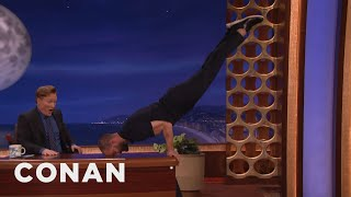 Jamie Dornan Turns Conan's Desk Into A Pommel Horse  - CONAN on TBS