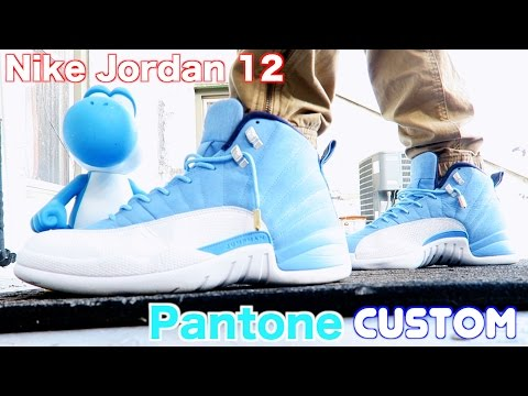 How To: Custom Retro Jordan 12 Pantone w/ On Feet Review & TimeLapse