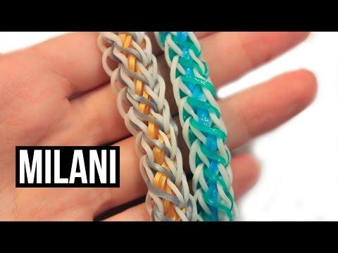 Rainbow Loom Milani Bracelet | One Loom Tutorial