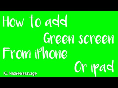 tutorial #1 // How to use green screen on iPhone or iPad