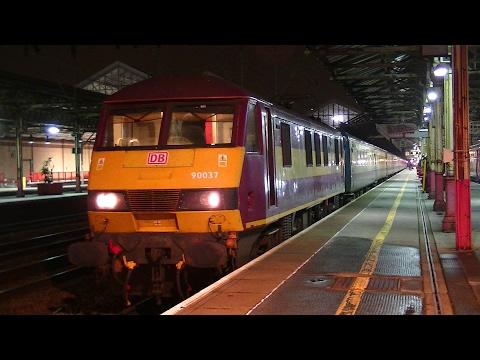 90037 + 67014 - Burnley to London Euston Footex - Crewe 12th Feb 2017