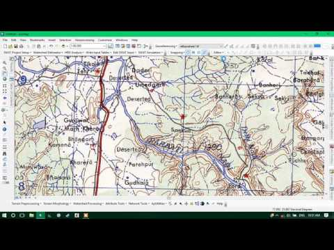 Digitizing  Scanned Topographic Map Using ArcGIS 10.3 ( Point, Line & Polygon )
