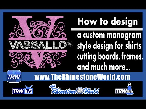 How to make Monogram style Shirts, Frames, and cutting boards in minutes with a TRW TTF
