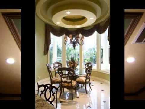 Dining room ceiling interior design