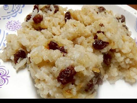 Christmas Recipe - Baked Rice Pudding with Plump Raisins and Cinnamon