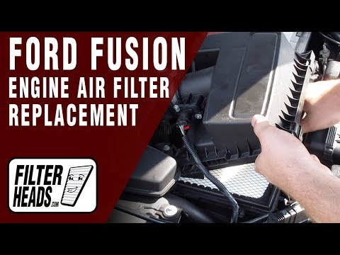 How to Replace Engine Air Filter 2015 Ford Fusion L4 2.5L