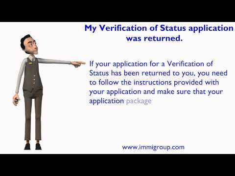 My Verification of Status application was returned.
