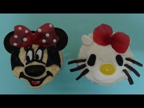 ice cream cake cones kitty and minnie mouse