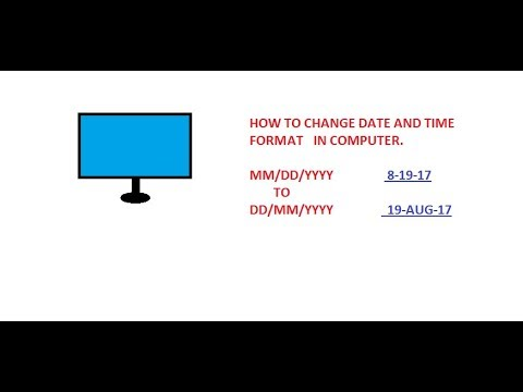 change date and time format in pc