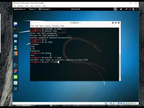 BandZ Network: Kali Linux : How to Add / Delete Kali Linux User