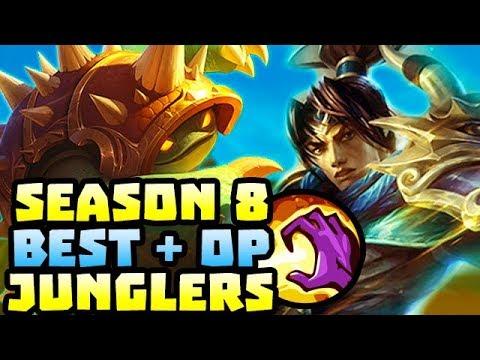 BEST & OP JUNGLERS IN PRESEASON 8 - League of Legends