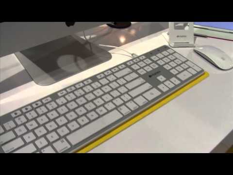 Kanex Extended Keyboard connects to four devices via Bluetooth, USB - CES 2014