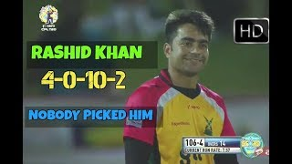 Rashid Khan Brilliant Leg Spin Bowling vs St Lucia Stars - 2 wickets for 9 In CPL 2017