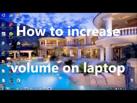 How to increase volume on laptop