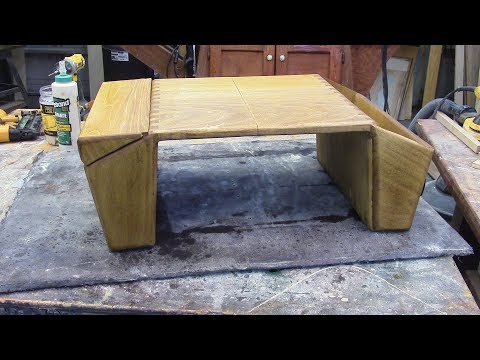 160 Lap Desk, Poplar wood, angled box joints